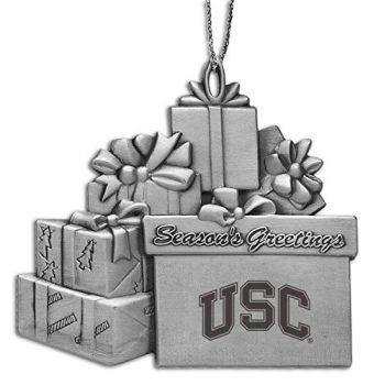 University of South California - Pewter Gift Package Ornament