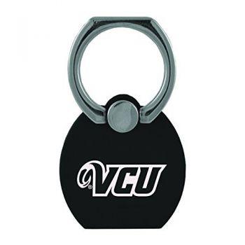 Virginia Commonwealth University|Multi-Functional Phone Stand Tech Ring|Black