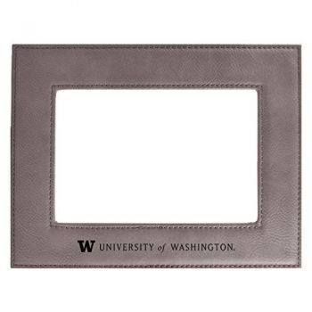 University of Washington -Velour Picture Frame 4x6-Grey