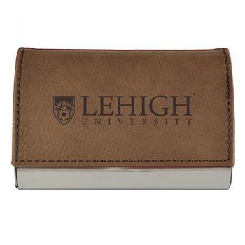 Velour Business Cardholder-Lehigh University-Brown
