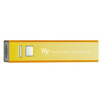 Wake Forest University - Portable Cell Phone 2600 mAh Power Bank Charger - Gold