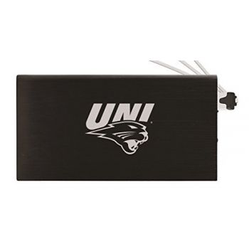 8000 mAh Portable Cell Phone Charger-University of Northern Iowa-Black