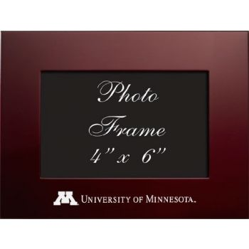University of Minnesota - 4x6 Brushed Metal Picture Frame - Burgundy