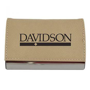 Velour Business Cardholder-Davidson College-Tan