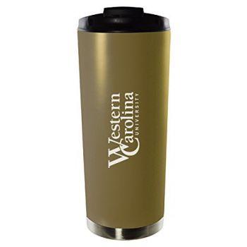 Western Carolina University-16oz. Stainless Steel Vacuum Insulated Travel Mug Tumbler-Gold
