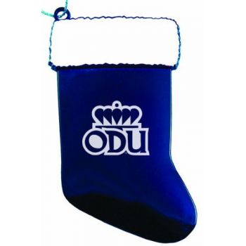 Old Dominion University - Christmas Holiday Stocking Ornament - Blue
