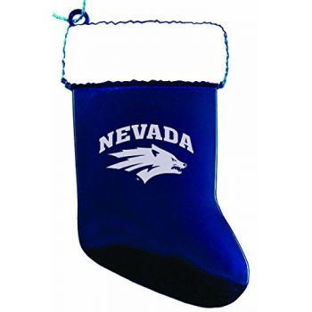 University of Nevada, Reno - Christmas Holiday Stocking Ornament - Blue