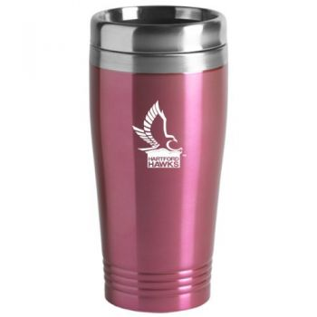 University of Hartford - 16-ounce Travel Mug Tumbler - Pink