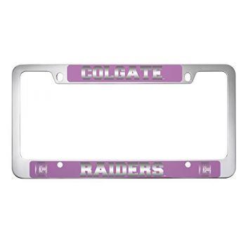 Colgate University -Metal License Plate Frame-Pink