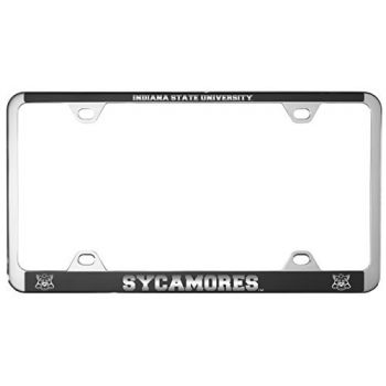 Indiana State University -Metal License Plate Frame-Black