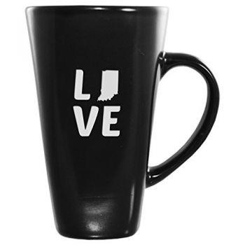 16 oz Square Ceramic Coffee Mug - Indiana Love - Indiana Love