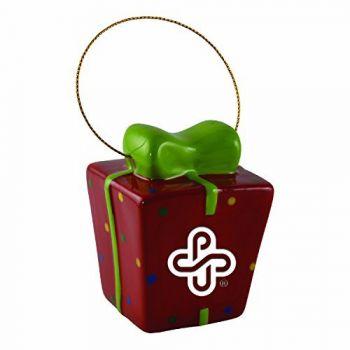 Portland State University-3D Ceramic Gift Box Ornament