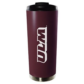 University of Louisiana at Monroe-16oz. Stainless Steel Vacuum Insulated Travel Mug Tumbler-Burgundy