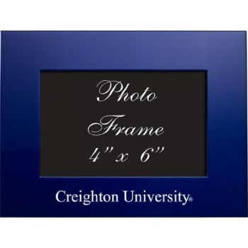 Creighton University - 4x6 Brushed Metal Picture Frame - Blue