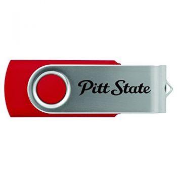 Pittsburg State University -8GB 2.0 USB Flash Drive-Red