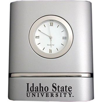 Idaho State University- Two-Toned Desk Clock -Silver