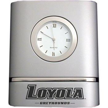 Loyola University Maryland- Two-Toned Desk Clock -Silver