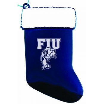 Florida International University - Christmas Holiday Stocking Ornament - Blue