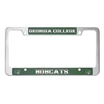 Georgia College-Metal License Plate Frame-Green