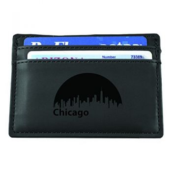 Chicago, Illinois-European Money Clip Wallet-