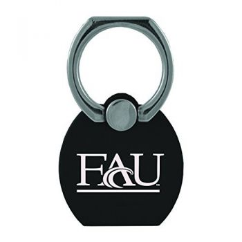 Florida Atlantic University|Multi-Functional Phone Stand Tech Ring|Black
