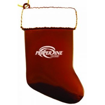 Pepperdine University - Chirstmas Holiday Stocking Ornament - Orange