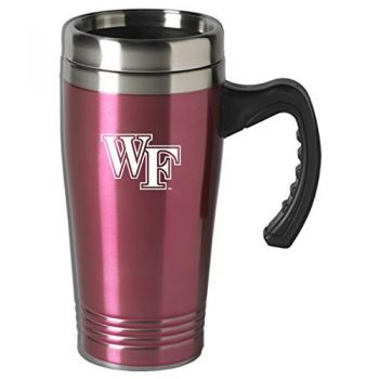 Wake Forest University-16 oz. Stainless Steel Mug-Pink