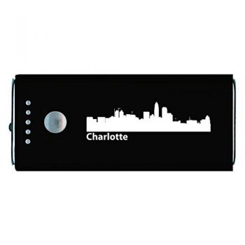 Quick Charge Portable Power Bank 5200 mAh - Charlotte City Skyline