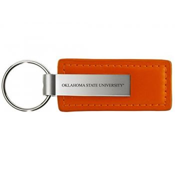 Oklahoma State University??Stillwater - Leather and Metal Keychain - Orange