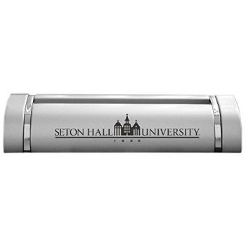 Seton Hall University-Desk Business Card Holder -Silver