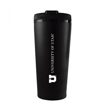 University of Utah-16 oz. Travel Mug Tumbler-Black