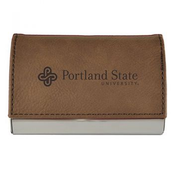 Velour Business Cardholder-Portland State University-Brown