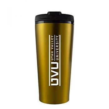 Utah Valley University -16 oz. Travel Mug Tumbler-Gold