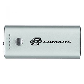 Oklahoma State University -Portable Cell Phone 5200 mAh Power Bank Charger -Silver