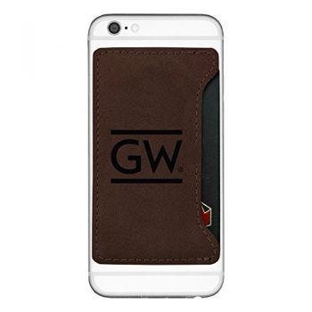 George Washington University -Cell Phone Card Holder-Brown