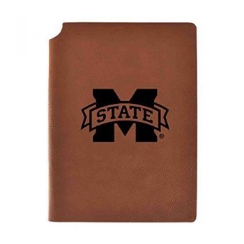 Mississippi State University Velour Journal with Pen Holder|Carbon Etched|Officially Licensed Collegiate Journal|