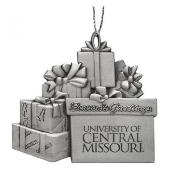 Central Missouri State University - Pewter Gift Package Ornament
