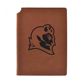 Central Connecticut University Velour Journal with Pen Holder|Carbon Etched|Officially Licensed Collegiate Journal|