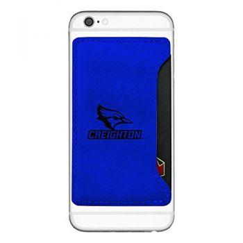 Creighton University-Cell Phone Card Holder-Blue