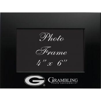 Grambling State University - 4x6 Brushed Metal Picture Frame - Black