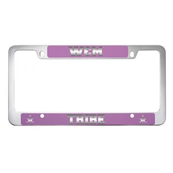 College of William & Mary-Metal License Plate Frame-Pink