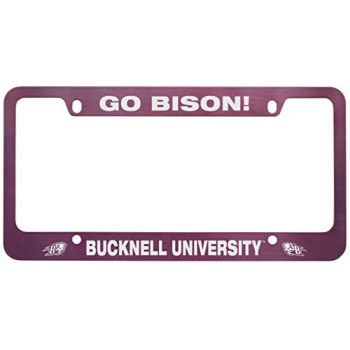 Bucknell University -Metal License Plate Frame-Pink