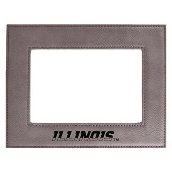 University of Illinois-Velour Picture Frame 4x6-Grey
