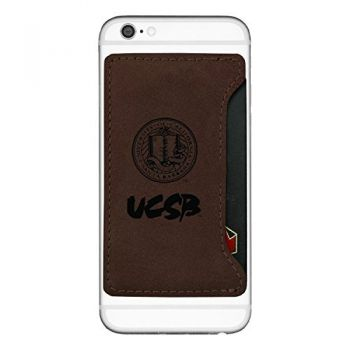 University of California, Santa Barbara-Cell Phone Card Holder-Brown