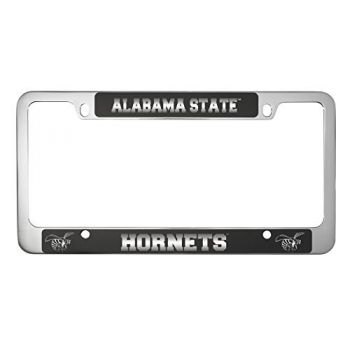Alabama State University -Metal License Plate Frame-Black