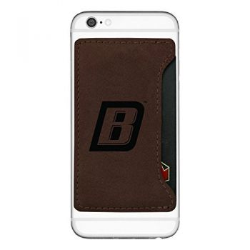 Bryant University-Cell Phone Card Holder-Brown