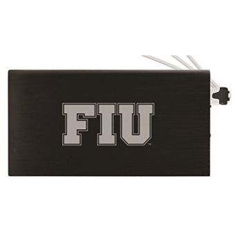 8000 mAh Portable Cell Phone Charger-Florida International University-Black