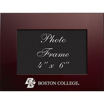 Boston College - 4x6 Brushed Metal Picture Frame - Burgundy