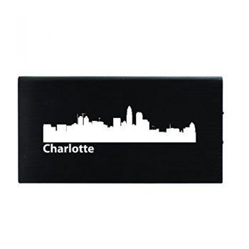Quick Charge Portable Power Bank 8000 mAh - Charlotte City Skyline