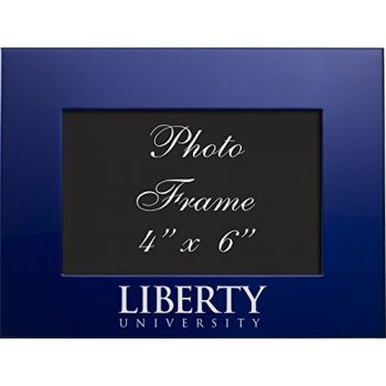 Liberty University - 4x6 Brushed Metal Picture Frame - Blue